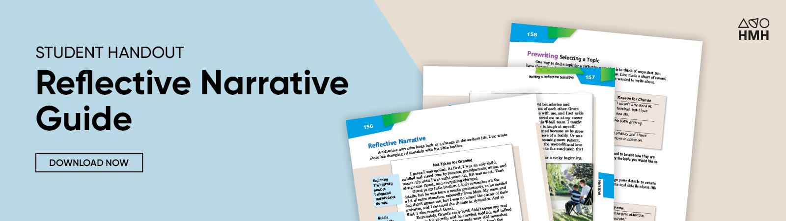 How to Write a Reflective Narrative Essay   Houghton Mifflin Harcourt