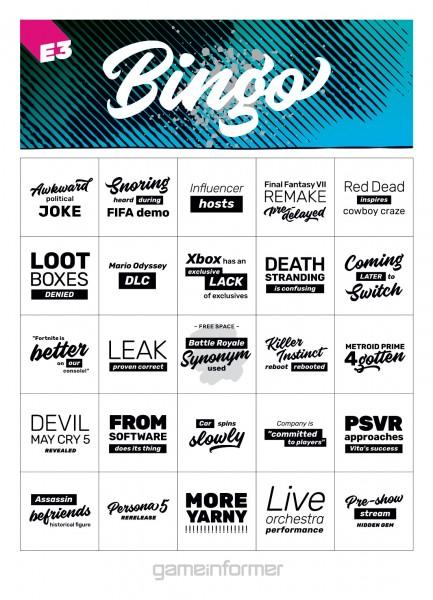 e3 bingo 2018