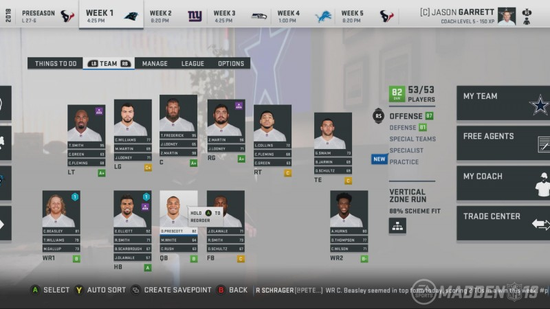 Finding The Right Fit For Your Franchise In Madden NFL 19