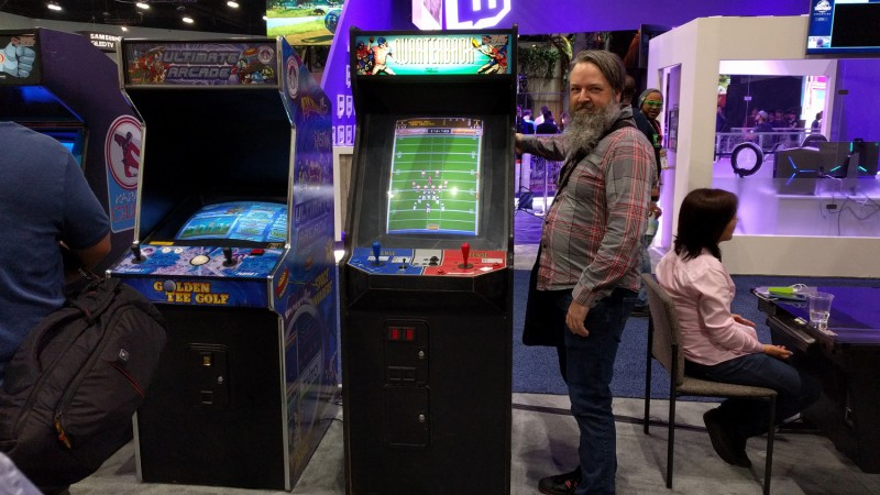 Cork and I saw all the newest games at E3 2018, including Golden Tee Golf and ... Quarterback?
