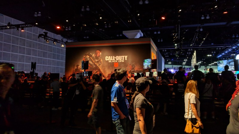 "Black Ops 4 had a long line at the show as well – I assume they were all editors lining up to tell the developers that ""IIII"" is not a real Roman numeral."