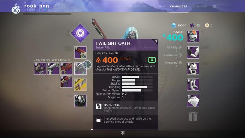 gambit weapons destiny 2