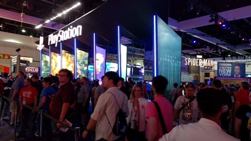 As you might expect, Sony has a massive booth to show off its line-up of exclusives.