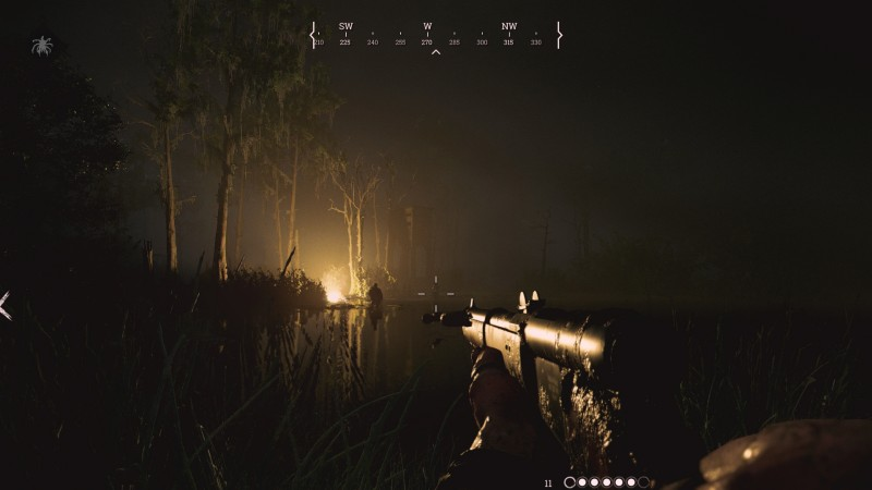 The flare can be used to locate rival hunters in the dark.