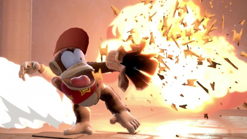 "Glad to see some Donkey Kong Country TV show-inspired ""expressive new facial animations"" for Diddy Kong."