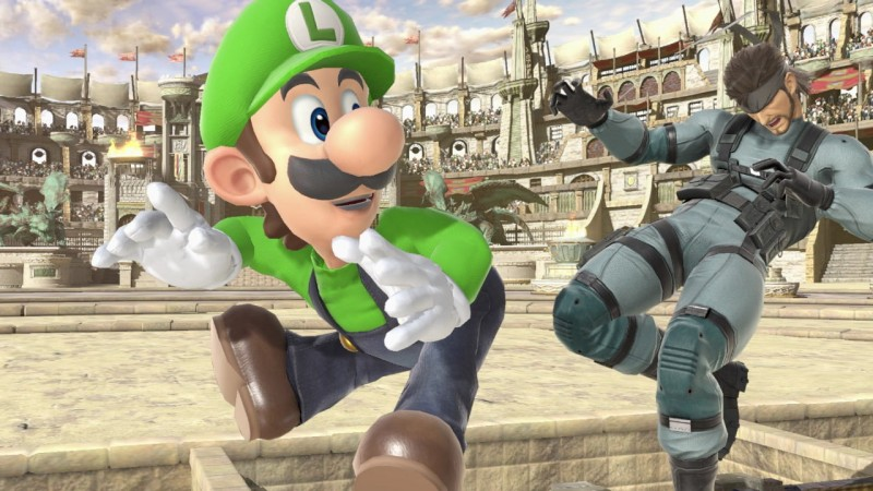 Luigi's really rubbing Snake's booty nerf in his face.