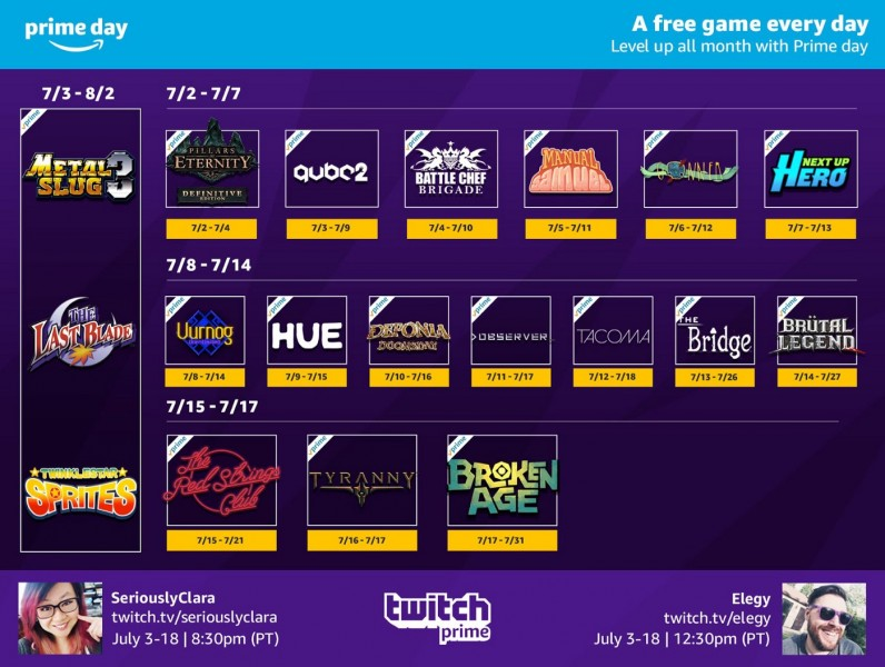 Twitch Prime Offering 21 Free Games In July - Game Informer