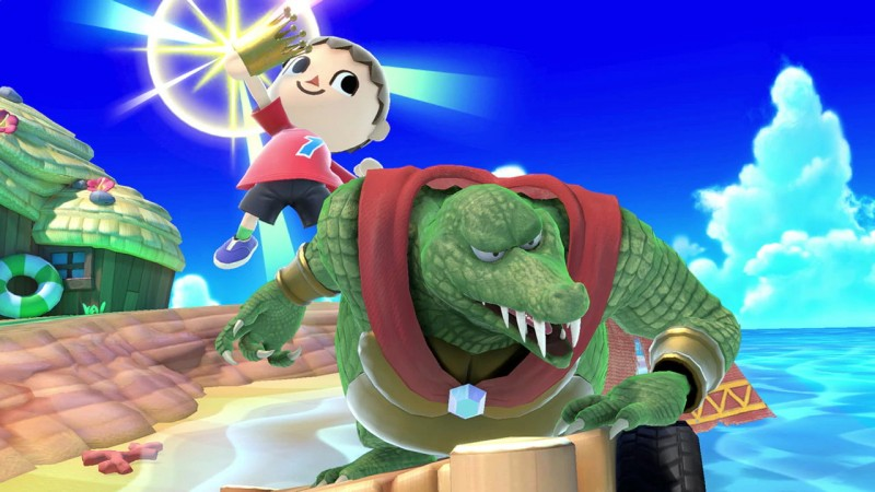 If The Villager puts on K. Rool's crown, what will happen to him? Will he also become a gorgeous crocodilian man? Will he acquire an intense, eye-bulging hatred for apes? The world may never know.