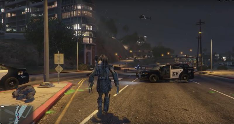Stalk Prey Across Los Santos As The Predator In This GTA V Mod