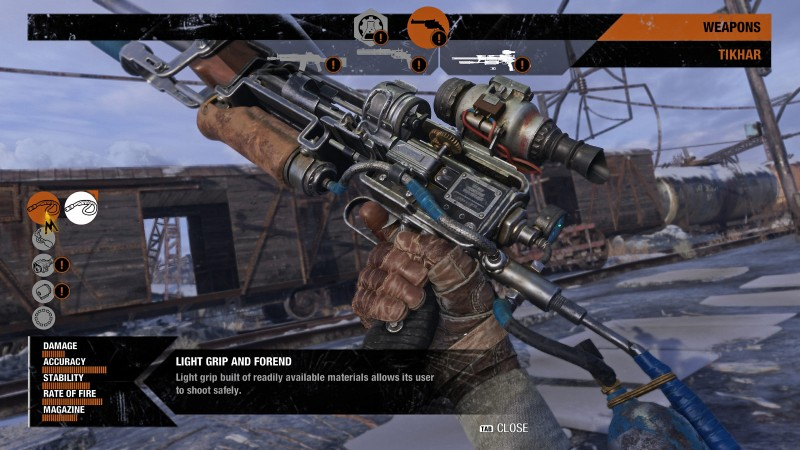 Each base weapon in Metro Exodus has at least five hard points that allow you to mix and match attachments