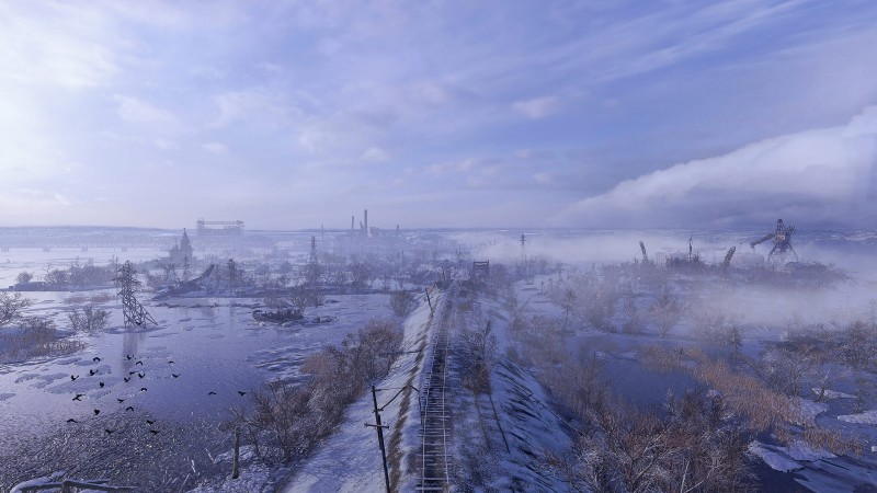 This early level gives you an idea of the scope of the sandbox regions in Metro Exodus