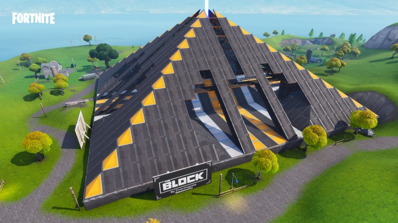 Omega Pyramid - a player creation featured in Fortnite Battle Royale