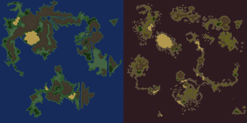 Final fantasy 3 dark world map