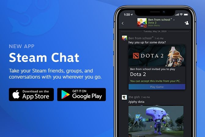 New Steam Chat App Debuts Today