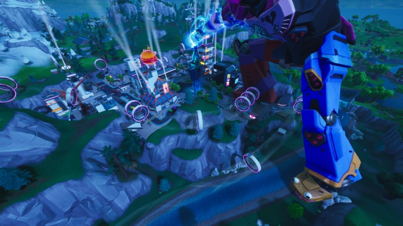 Fortnite Just Had A Kaiju-Versus-Mech Fight On Its Map