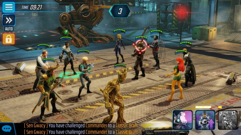Marvel Strike Force battle