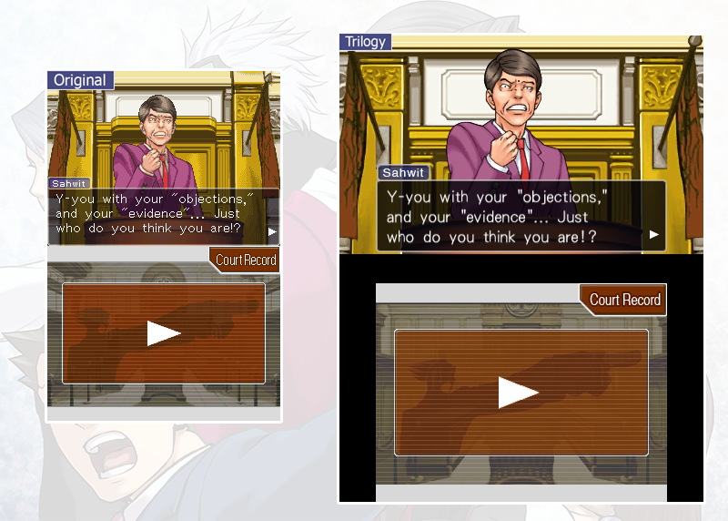 Phoenix Wright Gets Updated Visuals In Ace Attorney Trilogy Comparison Shots Game Informer