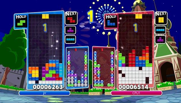 Image result for puyo puyo tetris switch modes