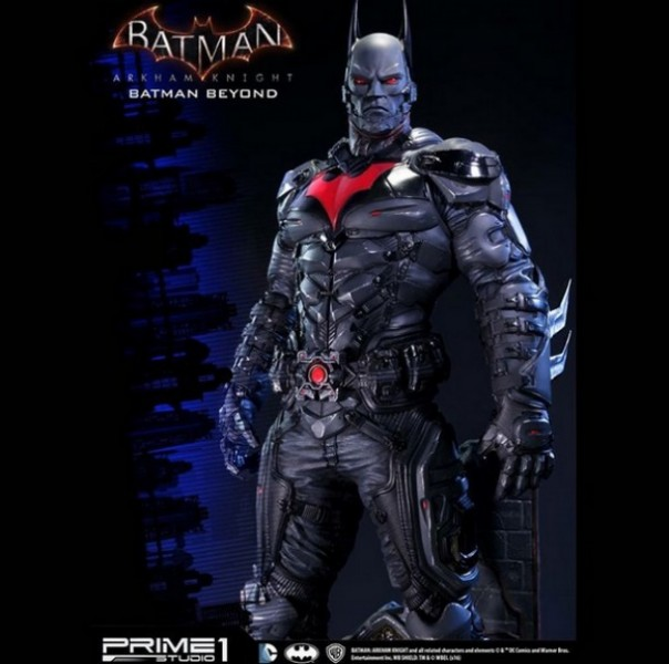 Arkham Knight S Batman Beyond Skin Immortalized In Statue Form