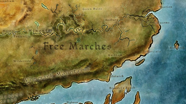 Map Of Thedas Dragon Age II: Map of Thedas   Game Informer Map Of Thedas