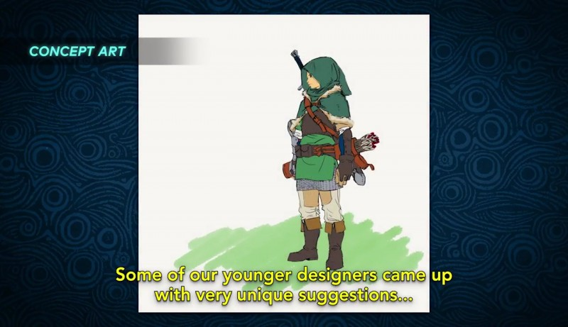 Early Zelda Breath Of The Wild Concepts Show Link Without
