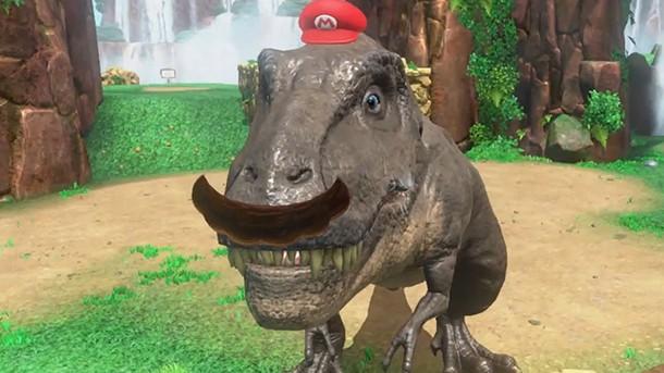 Exclusive Super Mario Odyssey Dinosaur Gameplay Game Informer