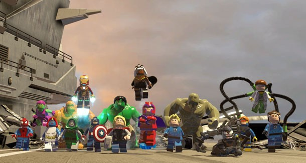 Lego Marvel Super Heroes Review Heroes Assemble Game Informer
