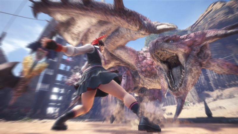 Monster Hunter Worlds Sakura From Street Fighter Armor Arrives On