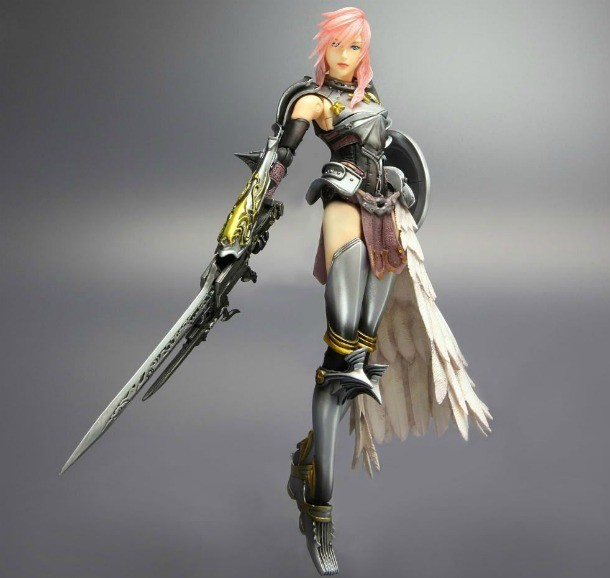 pink hair files final fantasy xiii 2 s lightning action figure on