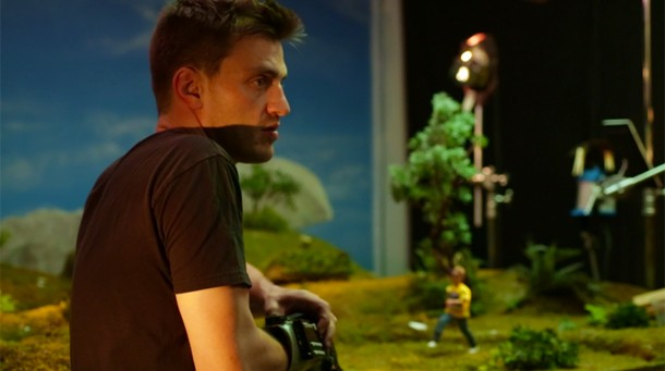 robot chicken animator uses modified nes power glove to animate