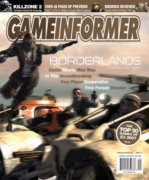 Here Is Game Informers Entire 2007 Borderlands Cover Story In Its Original Layout Note You Can And Absolutely Should Click On Each Spread For An
