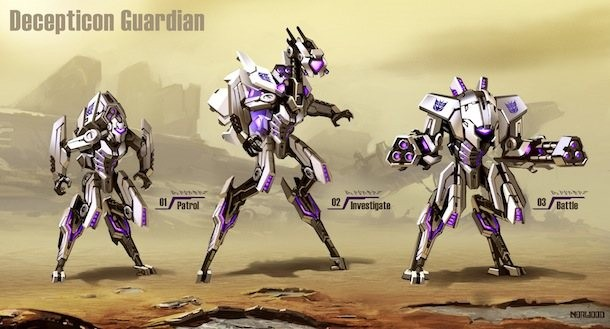 the enemies ai of transformers fall of cybertron game informer