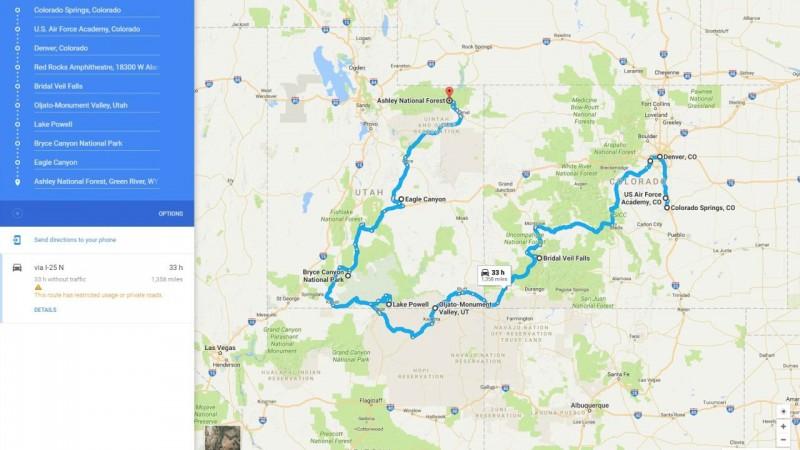 Denver World Map.The Horizon Zero Dawn Real World Road Trip Challenge Game Informer