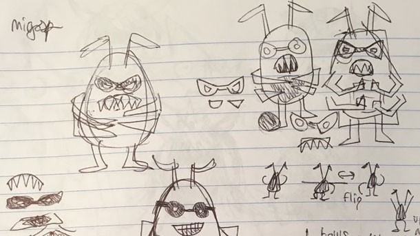 Toby Fox Shares College Notebook Filled With Early Concept Art And
