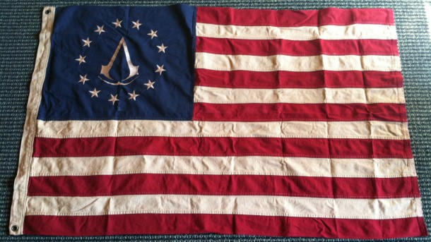 Ubisoft Sent Us A Huge Assassin S Creed Iii Themed American Flag Game Informer
