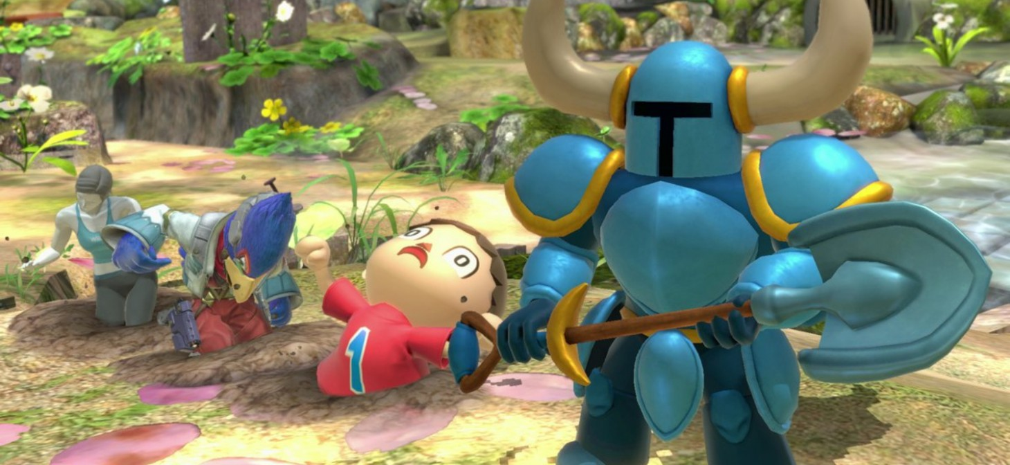 Shovel Knight Assist Trophy in Super Smash Bros. Ultimate