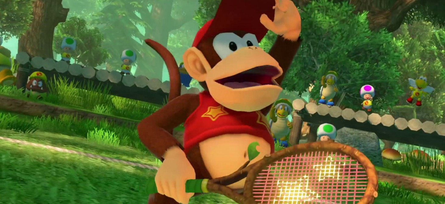 Diddy Kong in Mario Tennis Aces