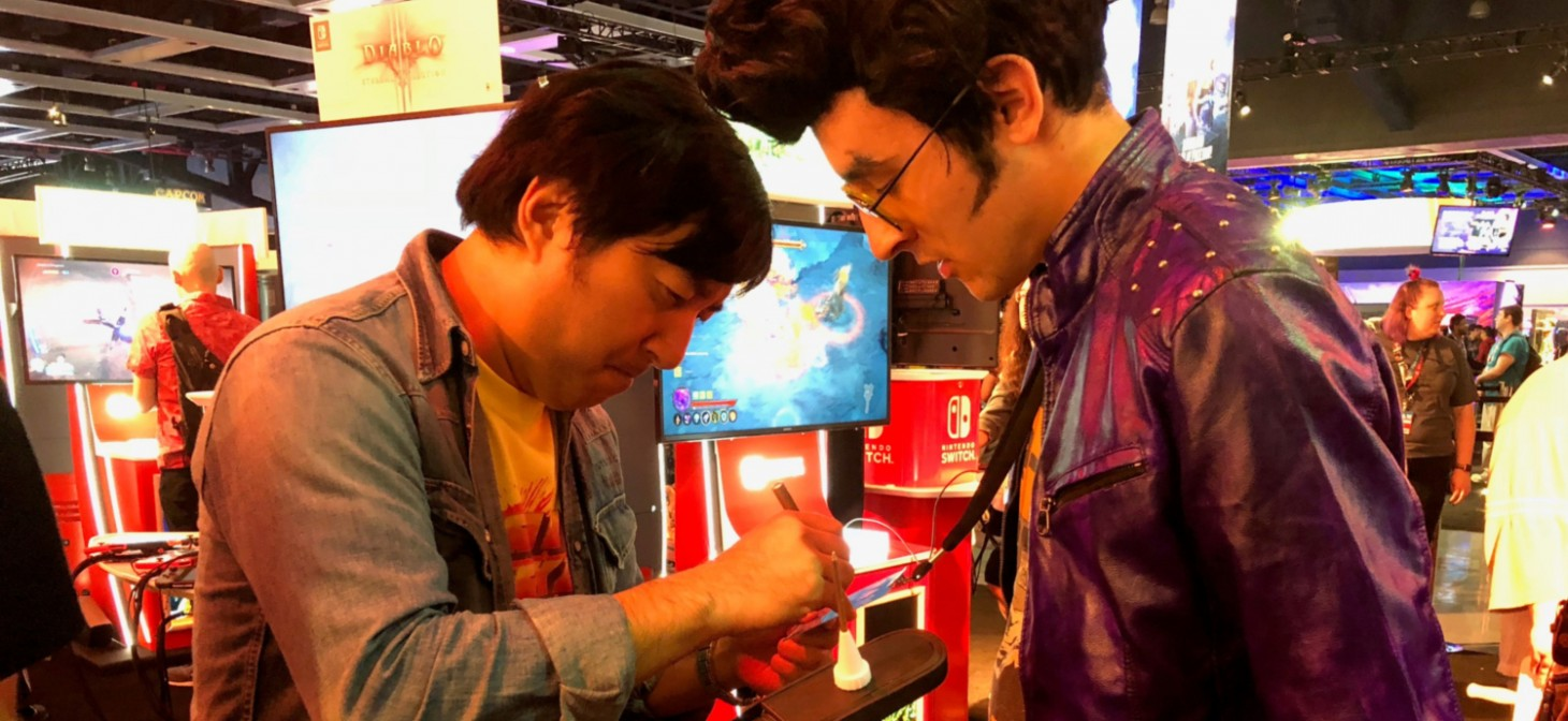 Suda Meeting A Travis Touchdown Cosplayer