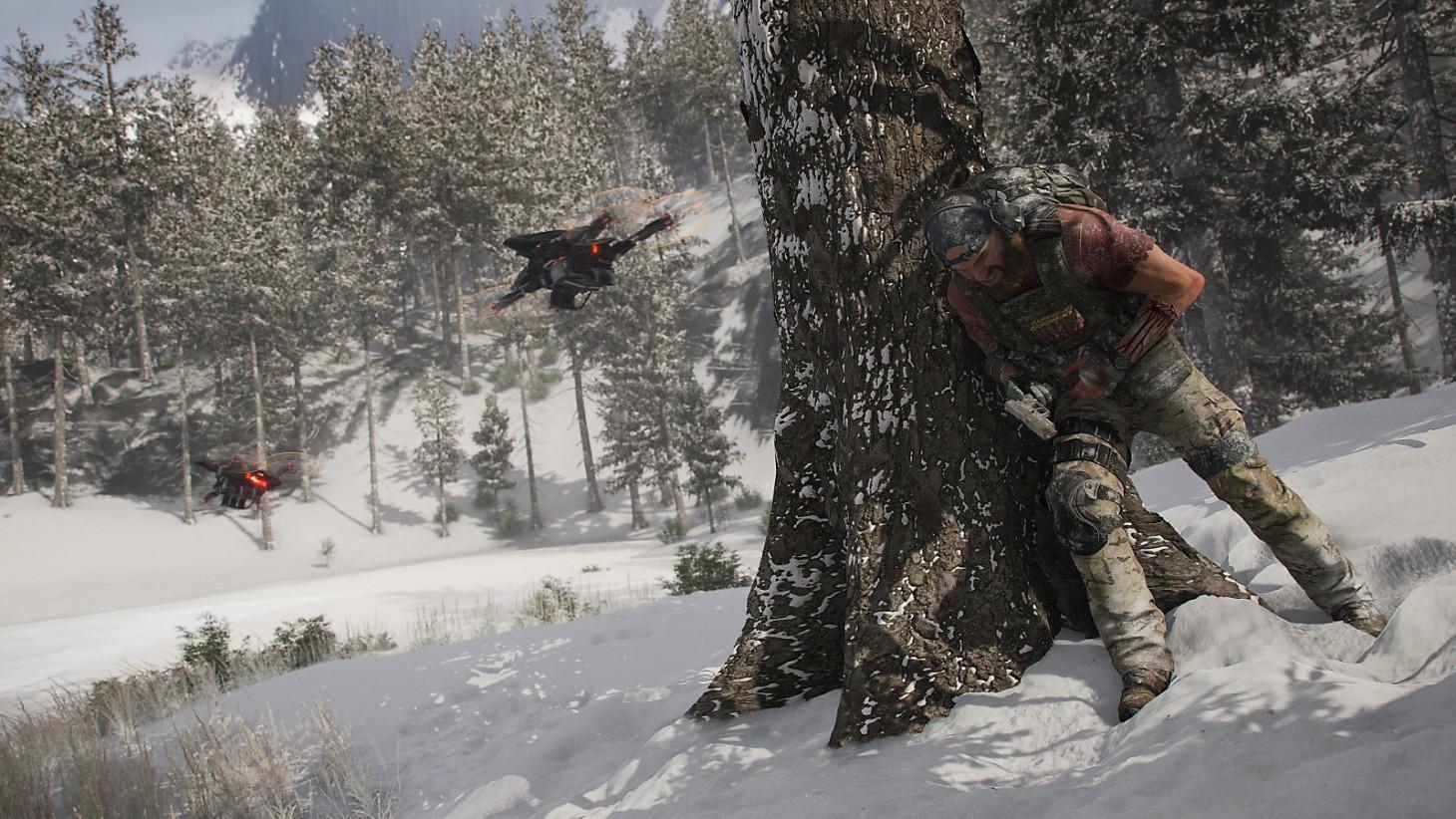 Drones vliegen veel en vaak rond in de game