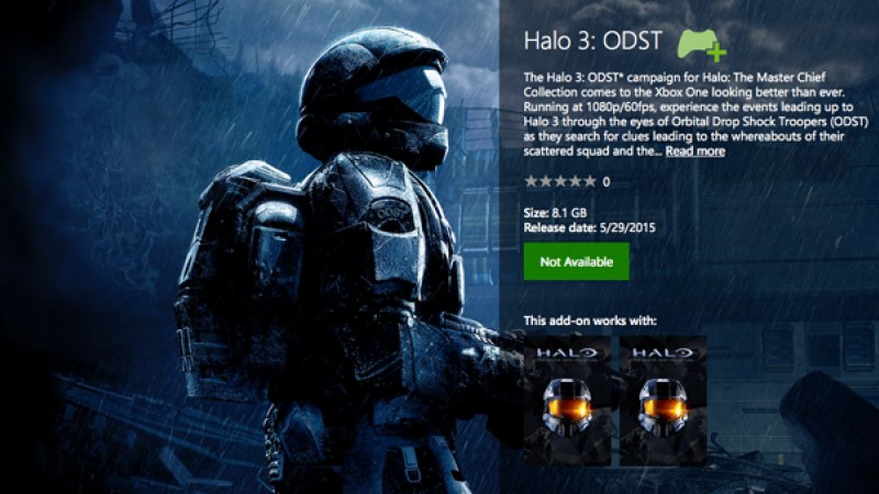 Update] 343 Industries Says Halo 3: ODST Listing Not Final - Game