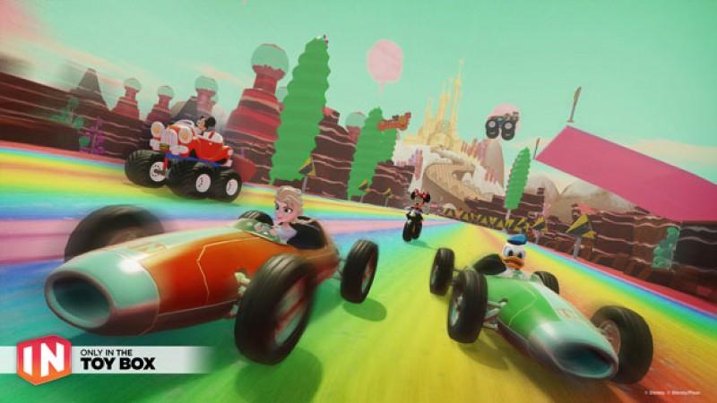 Disney Infinity 3 0 Meets Mario Kart In The Speedway Toy Box Game Informer