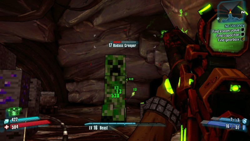 How To Find The Minecraft Area In Borderlands 2 - Game