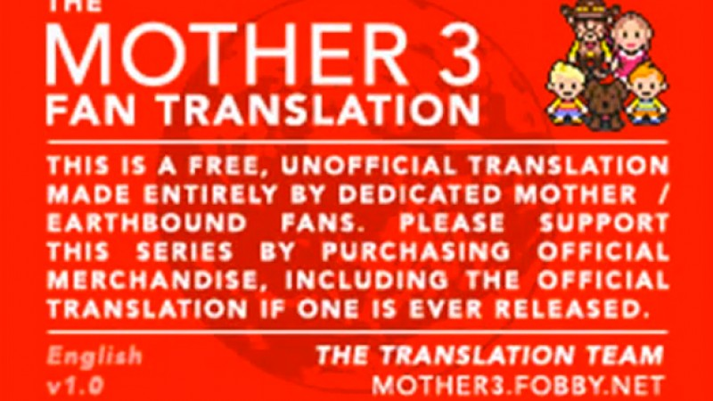 Mother 3 Fan Translators Offer Their Work To Nintendo For Free