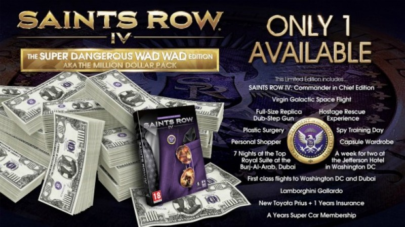 Saints Row 4's Super Dangerous Wad Wad Edition Will Cost You $1 Million