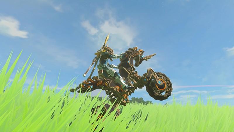 Zelda Breath Of The Wild Master Cycle: Sick Stunts On Zelda: Breath Of The Wild's New Motorcycle