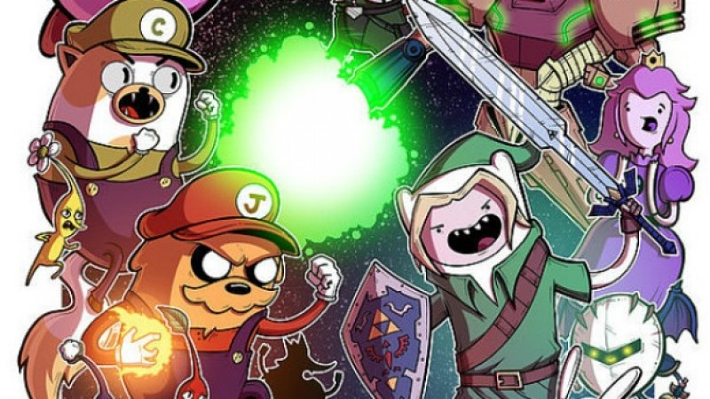 The Fun Never Ends On This Super Smash Bros./Adventure Time Crossover Poster