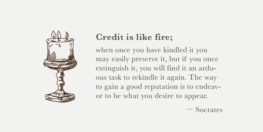 credit is like fire