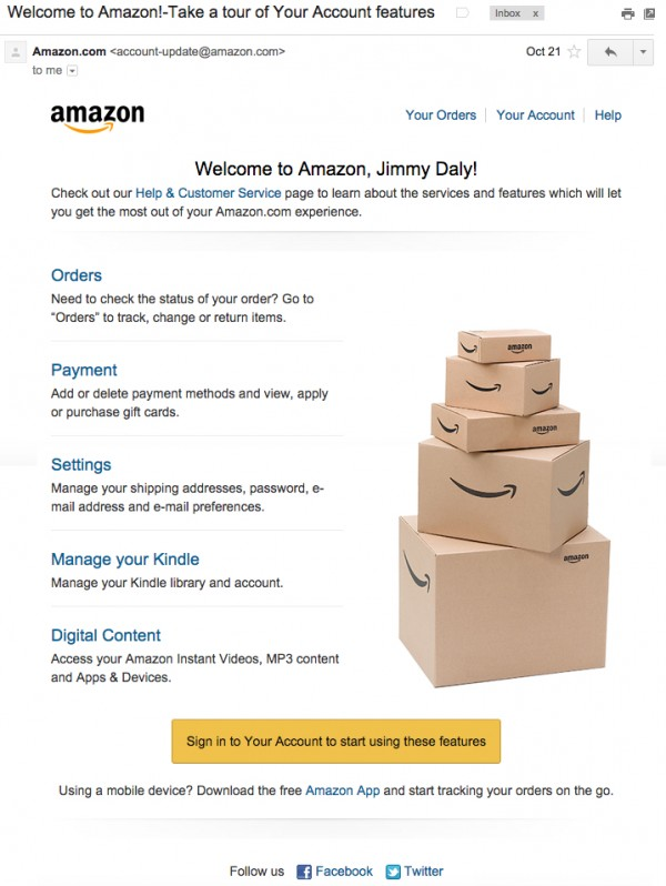 amazon-welcome-email