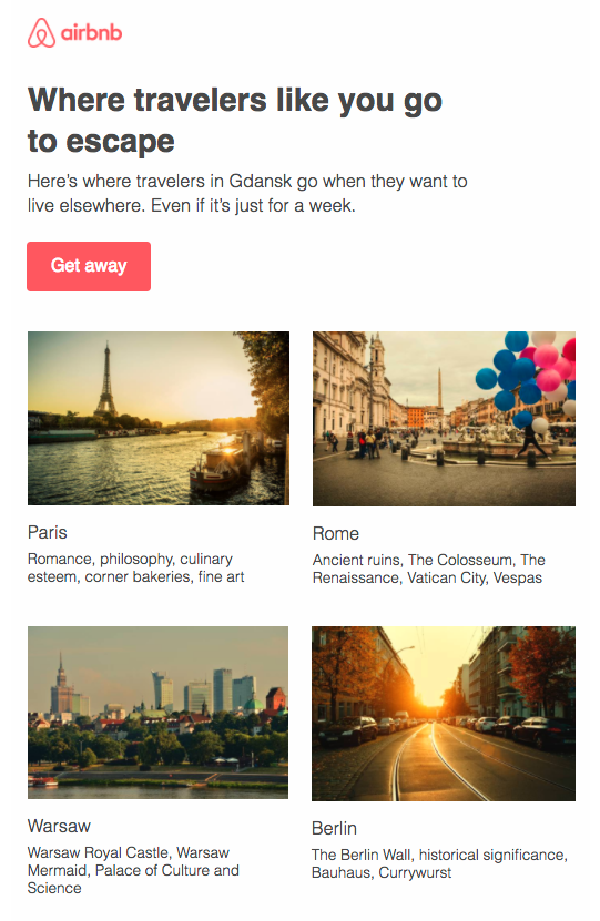 Airbnb 的個人化旅遊地點推薦