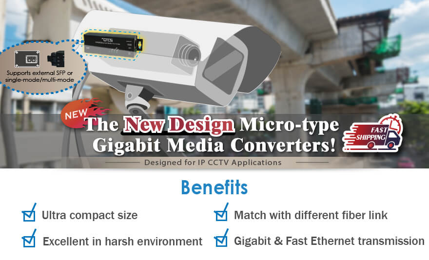 OT Systems Introduces the New Design Micro-type GigabitMedia Converters!
